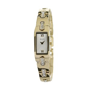 Accurist Ladies' Stone Set Gold-Plated Bracelet Watch - Product number 6138845