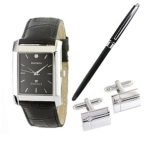 Mens Watch Pen and Cufflinks Gift