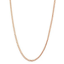 "9ct Rose Gold 30G 16"" Curb Chain Necklace - Product number 6139426"