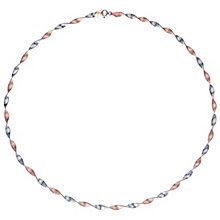 9ct Rose Gold Twisted Herringbone Glitter Necklace - Product number 6139922