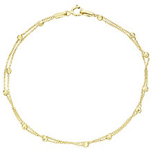 9ct Gold Glitter Ball Double Chain Bracelet - Product number 6139949