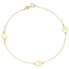 9ct Gold Disc Station Bracelet - Product number 6140009
