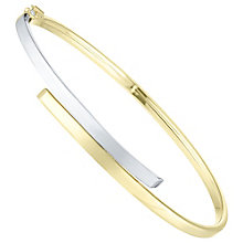 9ct Gold 2 Colour Crossover Hinged Bangle - Product number 6140467