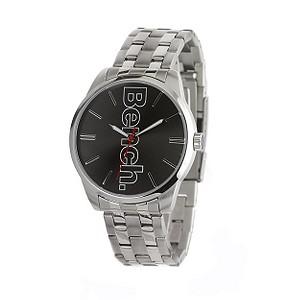 Men` Black Dial Stainless Steel Bracelet Watch