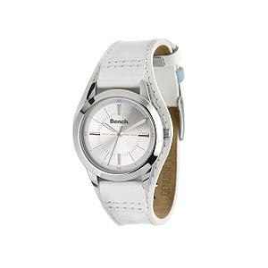 Ladies`White Strap Watch