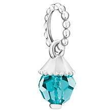 Chamilia Sterling Silver Blue Zirconia Teardrop Charm - Product number 6142710