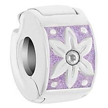 Chamilia Sterling Silver Purple Petals Lock Bead - Product number 6142788