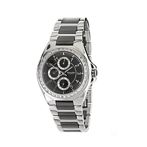 Accurist Men's Stainless Steel & Ceramic Bracelet Watch - Product number 6144209