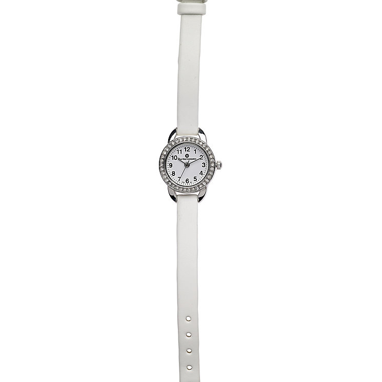 Cailin Stainless Steel Crystal Set 1st Communion Strap Watch - Product number 6146945