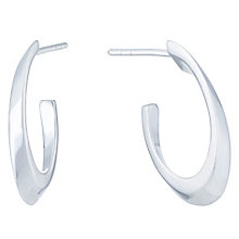 Sterling Silver Inverted Hoop Earrings - Product number 6147208