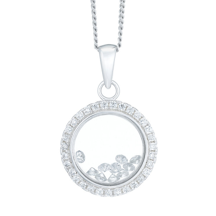 Sterling Silver Cubic Zirconia Loose Stone Locket - Product number 6147445