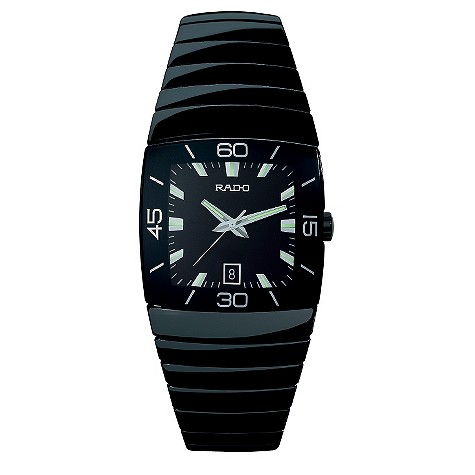 Rado men's black ceramic bracelet watch