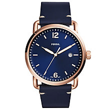 Fossil Men's Rose Gold Tone Strap Watch - Product number 6153151