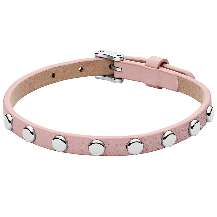 Fossil Pink Leather Studded Bracelet - Product number 6154611