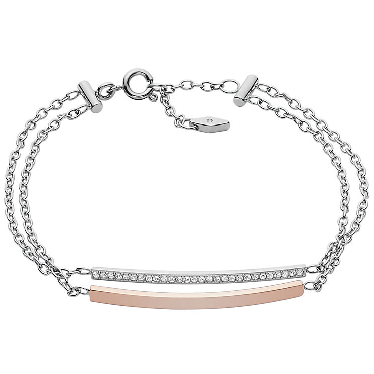 Fossil Two Colour Bar Bracelet - Product number 6154654