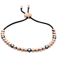 Fossil Rose Gold Tone Glitz Beaded Bracelet - Product number 6154662