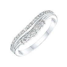 9ct White Gold 0.22ct Diamond Shaped Wedding Band - Product number 6155928
