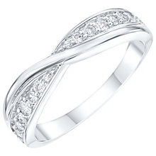 18ct White gold 0.25ct Diamond Crossover Wedding Band - Product number 6157017