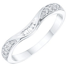 18ct White gold 0.15ct Diamond Shaped Wedding Band - Product number 6157378