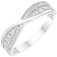 Platinum 0.20ct Diamond Crossover Wedding Band - Product number 6157769