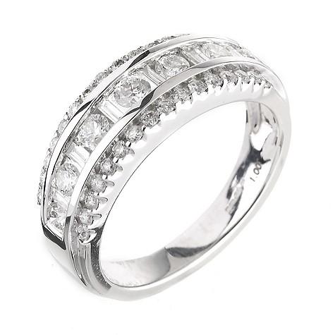 18ct white gold 1 carat diamond cocktail ring