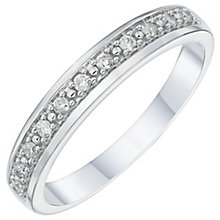18ct White 0.10ct Wedding Band - Product number 6162789
