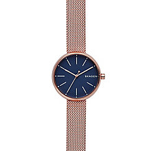 Skagen Ladies' Rose Gold Tone Bracelet Watch - Product number 6165257
