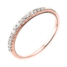 9ct Rose gold 15 point diamond wedding ring - Product number 6165370