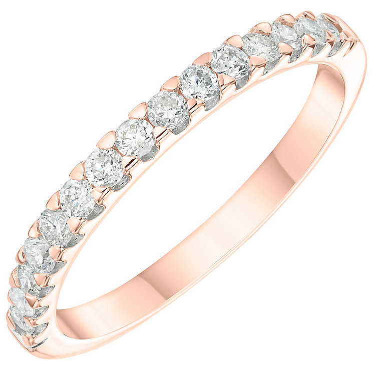 9ct Rose Gold 0.33ct Diamond Wedding Band - Product number 6166911