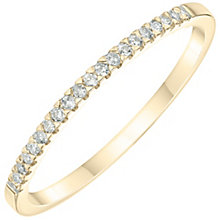 9ct Yellow Gold Diamond Wedding Band - Product number 6167047