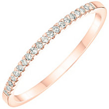 9ct Rose Gold 0.07ct Diamond Band - Product number 6167187