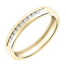 9ct Yellow gold 0.10ct diamond wedding ring - Product number 6167314