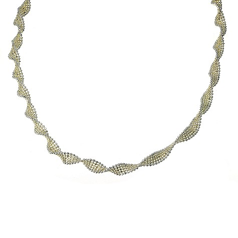 9ct two tone gold twist necklace