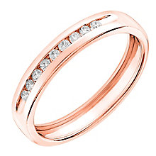 9ct Rose gold, 0.10CT diamond  wedding ring - Product number 6167500