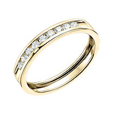9ct Yellow gold quarter carat diamond channel set ring. - Product number 6167675