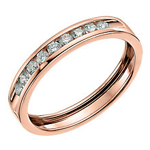 9ct Rose Gold Quarter Carat Diamond Channel Set Wedding Band - Product number 6167802