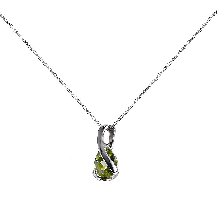 9ct white gold peridot pendant - Product number 6168205