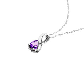 9ct white gold and amethyst pendant - Product number 6168213