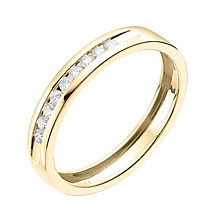 9ct Yellow gold 15 point channel set eternity ring - Product number 6168825