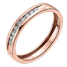 9ct Rose gold 15 point channel set eternity ring - Product number 6168957