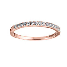 18ct Rose gold diamond wedding ring - Product number 6169481