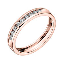 18ct Rose gold 0.25ct diamond channel set eternity ring - Product number 6170013