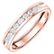 18ct Rose Gold 0.33ct Diamond Wedding Band - Product number 6170285