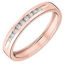 18ct Rose Gold Diamond Shaped Wedding Band - Product number 6170560