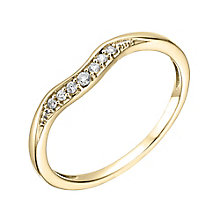 18ct Yellow Gold Diamond Set Shaped Wedding Band - Product number 6170838