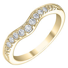 18ct Yellow Gold 0.15ct Diamond Shaped Wedding Band - Product number 6171095