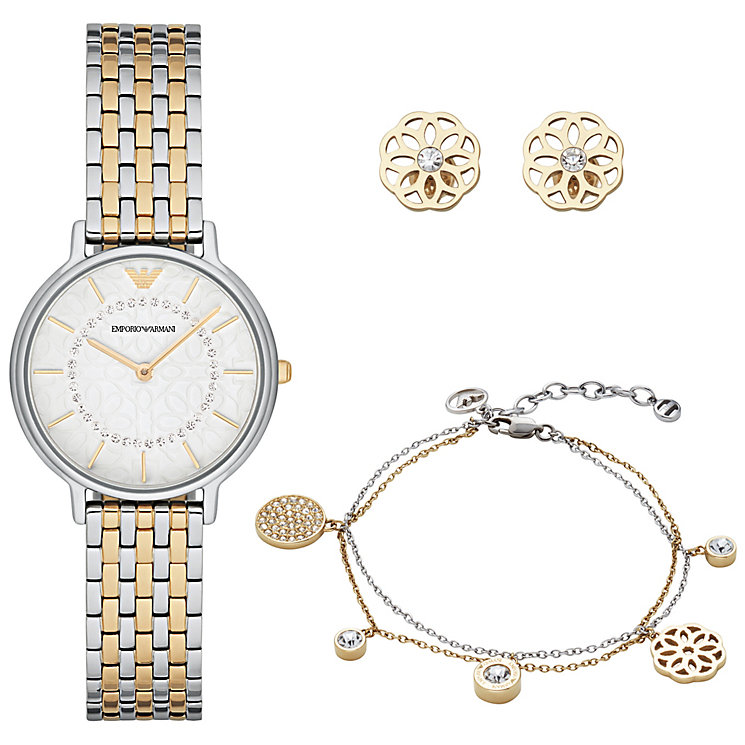 Emporio Armani Ladies' Two Colour Watch & Jewellery Gift Set - Product number 6171516