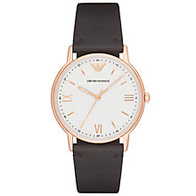 armani watches emporio armani designer watches ernest jones emporio armani men s rose gold tone strap watch product number 6171540