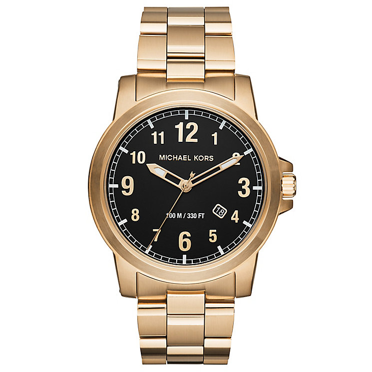 Michael Kors Men's Gold Tone Bracelet Watch - Product number 6171974