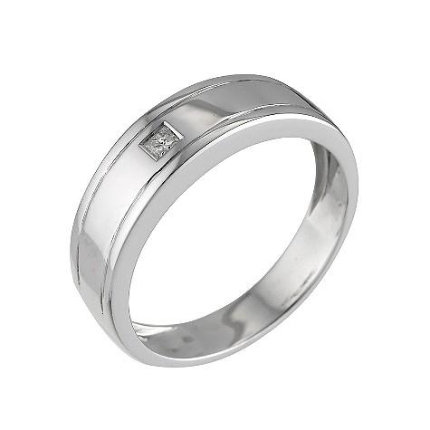 Men's platinum men's diamond set wedding ring
